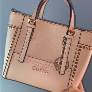 Limited edition mini rosegold Guess bag
